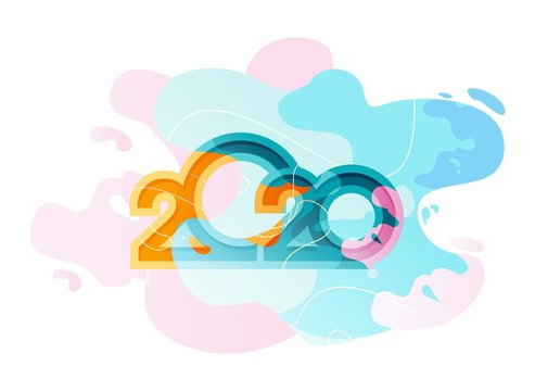 2020 calendar abstract background
