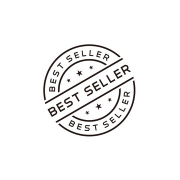 Best seller stamp vector