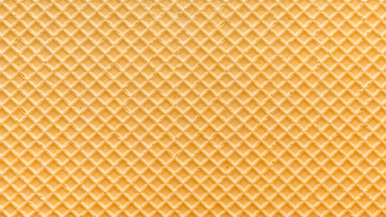 empty golden wafer texture, background for your design, panorama