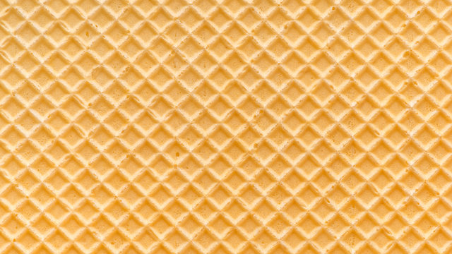 abstract empty golden waffle texture, background for your design, panorama