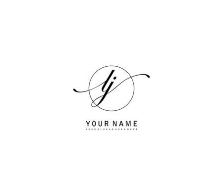 LJ Initial beauty monogram logo vector