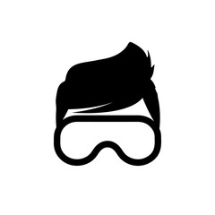 Virtual reality glasses, VR gaming and entertainment headset icon – stock vector