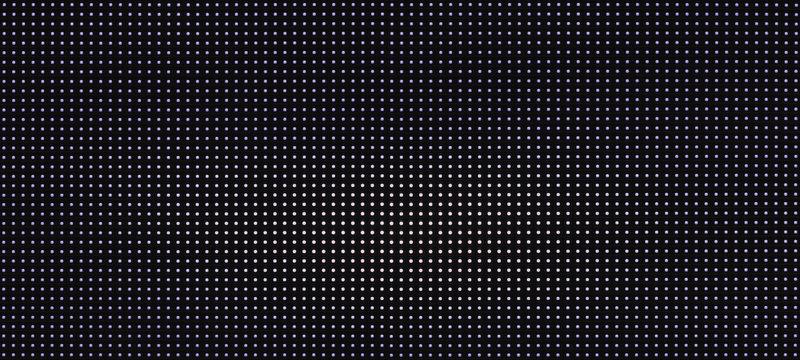 background pattern luminous blue and white led dots lights on black background