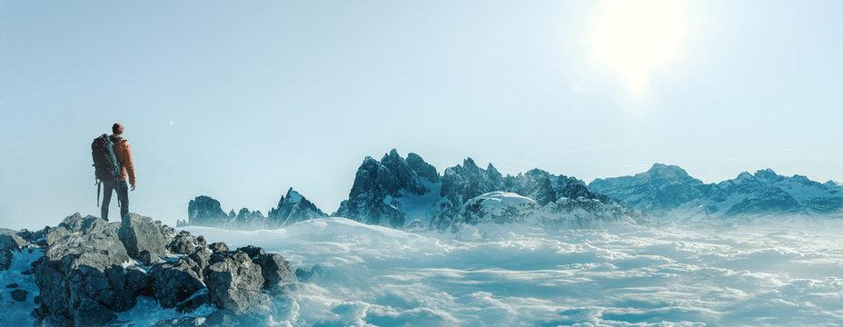 Gipfel - Bergsteiger- Freiheit