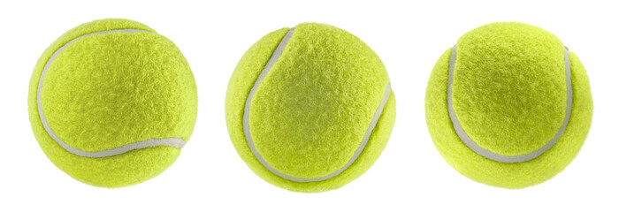 Zelfklevend Fotobehang Bol tennis ball isolated white background - photography
