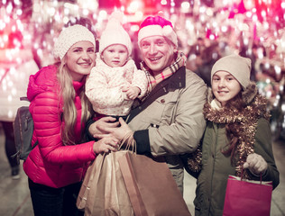 Parents and daughters  at Christmas fair