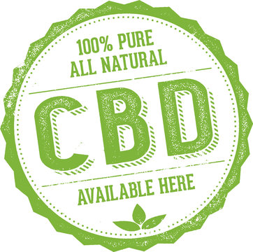 Natural CBD Oil Available Here Stamp Sign