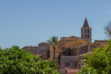 Church of the village Campanet in the north of Mallorca