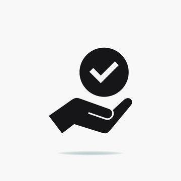 Modern value icon, top service rating icon on white background