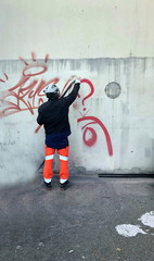 Türaufkleber Graffiti nettoyage de graffiti