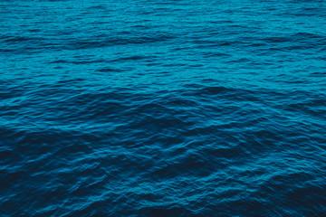 water surface, ocean waves - deep blue sea -