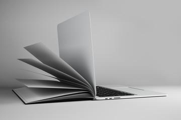Abstract open book notebook Wall mural