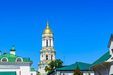 Wall Murals Kiev Bell tower of the Kiev Pechersk Lavra against blue sky