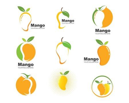 mango fruit vector illustration logo