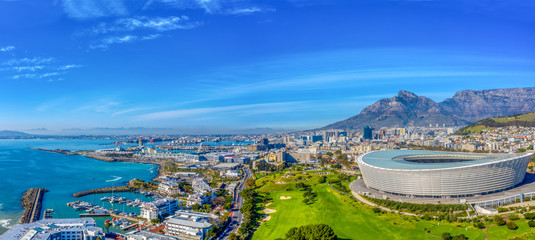 In de dag Afrika Cape Town aerial view