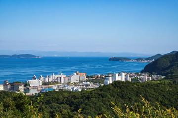 Landscape of Sumoto city and kitan strait ,Awaji island ,Hyogo,Japan