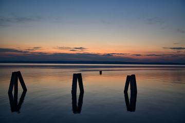 Neusiedler See mit Abenddämmerung