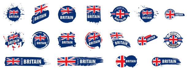 United Kingdom flag, vector illustration on a white background