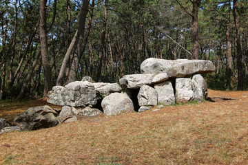Mane Kerioned Dolmens also dolmen House of the Dwarfs - megalithic monument, Carnac
