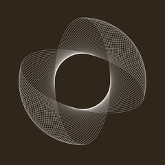 Spirograph abstract element. Can be used as a protective layer for documents. Vector illustration