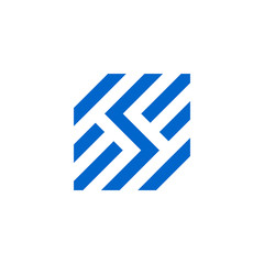 letter S Initials SS monoline simple graphic logo design idea