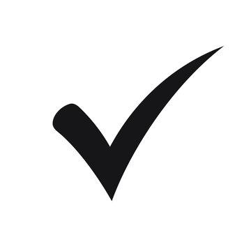 Black check mark icon. Tick symbol, tick icon vector illustration.