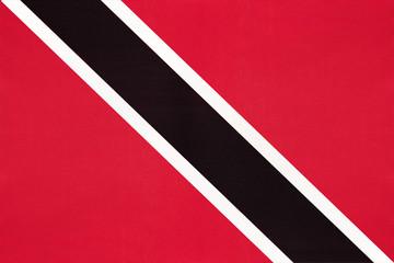 Papiers peints Amérique du Sud Trinidad and Tobago national fabric flag, textile background.