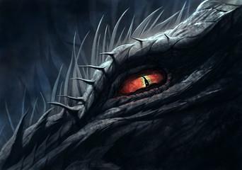 Eye of dragon illustration