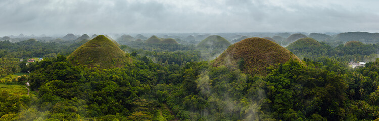 The Chocolate Hills panorama, Bohol, Philippines