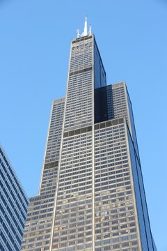 CHICAGO - JUNE 27: Willis Tower (formerly Sears Tower) on June 27, 2013 in Chicago. It is 442m tall and as of 2013 is the 2nd tallest building in the USA.