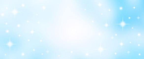 abstract blur soft focus gradient blue color background with star glittering light for show,promote...