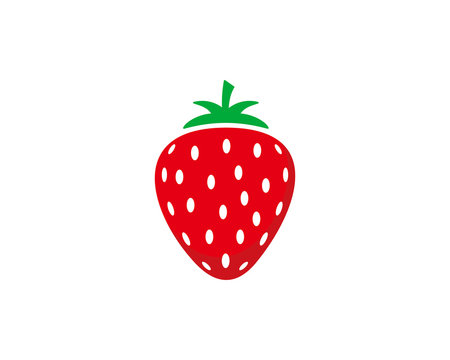 Strawberry icon symbol vector