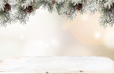 Christmas background. Free space for text