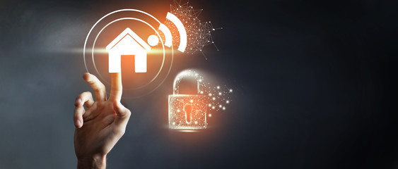 WiFi password lock, protection, security icon
