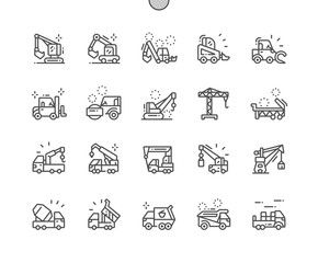 Special machinery Well-crafted Pixel Perfect Vector Thin Line Icons 30 2x Grid for Web Graphics and Apps. Simple Minimal Pictogram