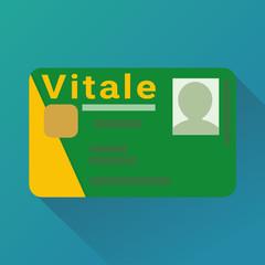 Carte vitale (flat design)