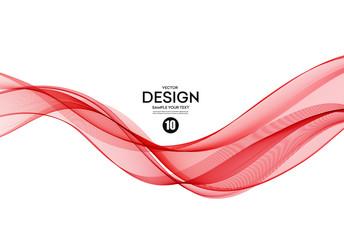 Abstract colorful vector background, color wave for design brochure, website, flyer. Fototapete