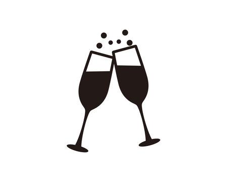 Champagne glass icon symbol vector