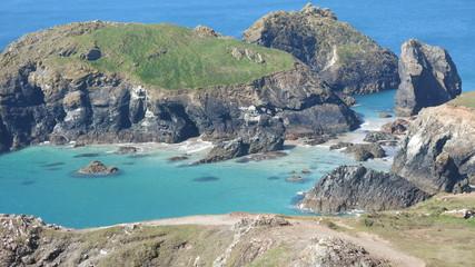 Turquoise seas at Kynance, Cornwall