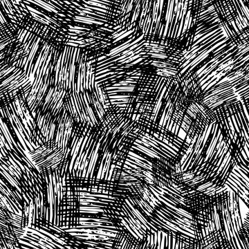 Seamless Pattern hand drawn with scribble Smear