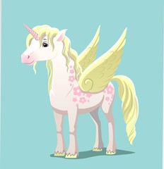 Unicorn with wings , vector