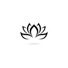 Lotus icon isolated on white background