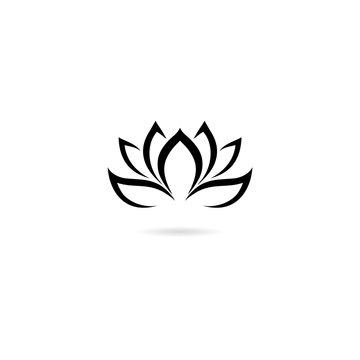 Lotus icon isolated on white background