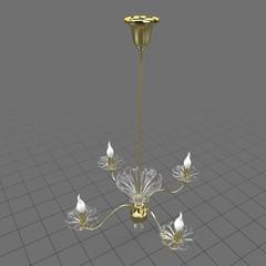 Floral tulip chandelier