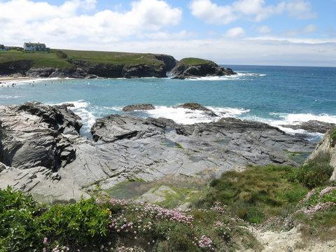 Rocky coast at Treyarnon Bay