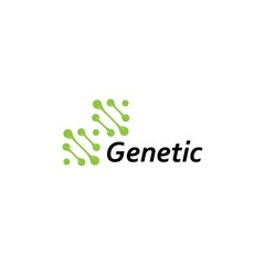 DNA logo design template.icon for science technology.genetic symbol