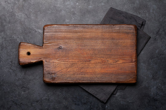 Cutting board over towel