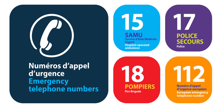 Numéros d'appel d'urgence en France