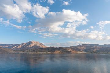 View of Van lake in Turkey.