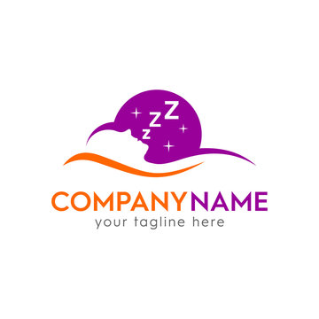 sleeping logo template